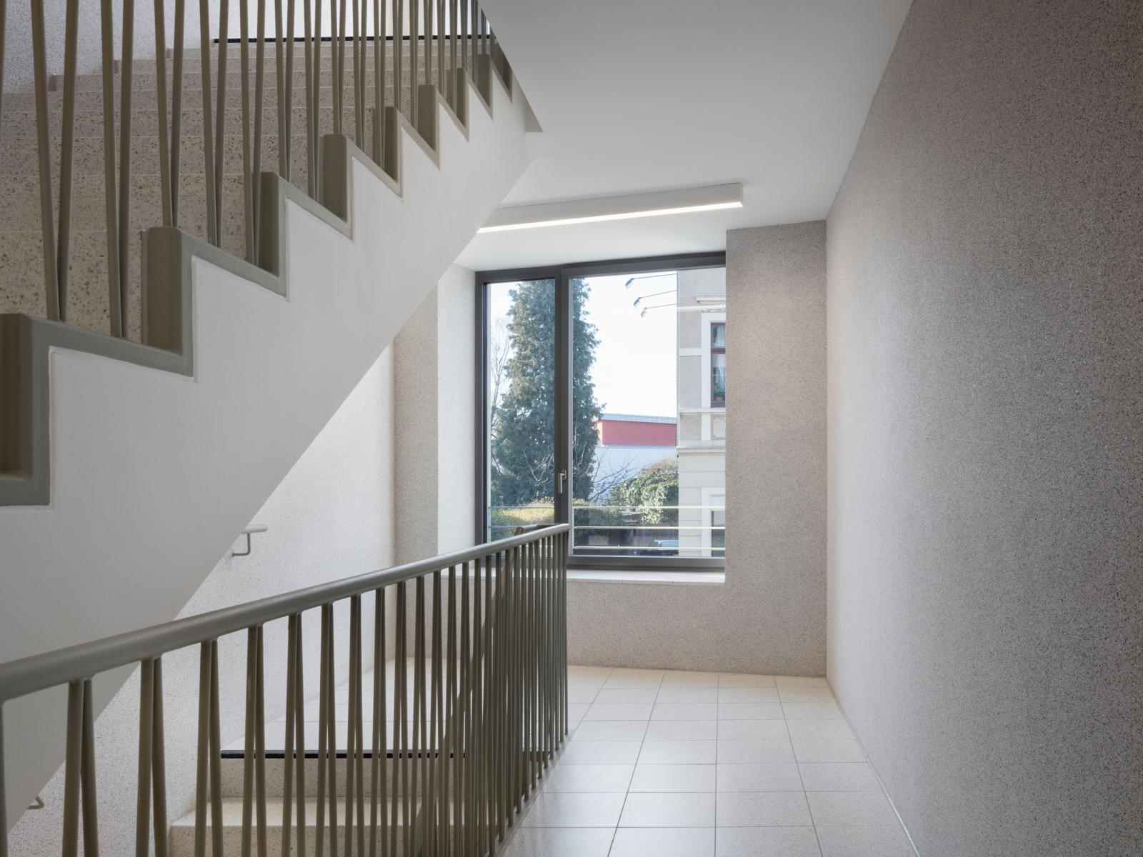 Rollstuhlgerechtes Wohnen Feuerwehrhaus Treppe